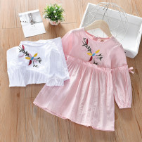 Dress female Other / other 100cm.,110cm.,120cm.,130cm.,140cm. Cotton 90% other 10% spring and autumn princess Long sleeves Solid color cotton A-line skirt Class B Chinese Mainland Guangdong Province Foshan City
