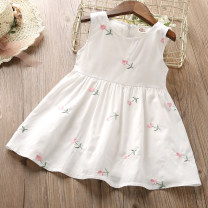 Dress female Thepigbaby Other 100% summer leisure time Skirt / vest Broken flowers cotton Irregular Class B 2 years old, 3 years old, 4 years old, 5 years old, 6 years old, 7 years old