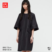 Dress Summer 2021 08 dark grey 09 black 150/76A/XS 155/80A/S 160/84A/M 160/88A/L 165/92A/XL 170/100B/XXL Mid length dress 25-29 years old UNIQLO / UNIQLO UQ437800000 51% (inclusive) - 70% (inclusive) polyester fiber Polyester 63% Silk 37% Same model in shopping mall (sold online and offline)