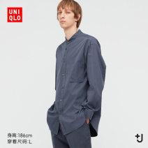 shirt other UNIQLO / UNIQLO 160/76A/XS 165/84A/S 170/92A/M 175/100A/L 180/108B/XL 185/112C/XXL 185/120C/XXXL 185/128C/XXXXL 00 white 06 lead grey 56 olive 67 sea blue routine stand collar Long sleeves easy Other leisure spring UQ440462000 Cotton 100% Spring 2021