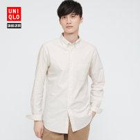 shirt other UNIQLO / UNIQLO 160/76A/XS 165/84A/S 170/92A/M 175/100A/L 180/108B/XL 185/112C/XXL 185/120C/XXXL 185/128C/XXXXL 31 Beige 65 Sapphire routine other Long sleeves Self cultivation Other leisure spring UQ436408000 Cotton 100% 2021 Spring 2021