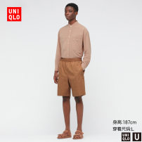 Casual pants UNIQLO / UNIQLO other 09 black 30 light beige 34 camel 57 Dark Olive 160/64A/XS 165/72A/S 170/80A/M 175/88A/L 180/96B/XL 185/104C/XXL Shorts (up to knee) Other leisure easy UQ437304000 Cotton 100% Summer 2021 Same model in shopping mall (sold online and offline)