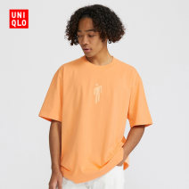 T-shirt other 22 pink orange routine 160/76A/XS 165/84A/S 170/92A/M 175/100A/L 180/108B/XL 185/112C/XXL 185/120C/XXXL 185/128C/XXXXL UNIQLO / UNIQLO Short sleeve Crew neck standard daily Cotton 100% Summer 2020 Same model in shopping mall (sold online and offline)
