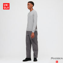 Casual pants UNIQLO / UNIQLO other 160/64A/XS 165/72A/S 170/80A/M 175/88A/L 180/96B/XL 185/104C/XXL trousers Other leisure Straight cylinder autumn 2020 Cotton 100% Autumn 2020 Same model in shopping mall (sold online and offline)