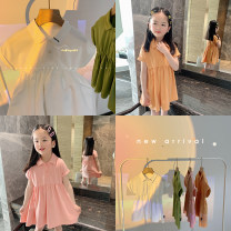 Dress Off white, pink, forest green, light orange female Amybaby 80cm, 90cm, 100cm, 120cm, 130cm, 150cm, 110cm (Baoer photo code), 140cm (Amy life code) Other 100% summer leisure time Short sleeve Solid color other Shirt skirt Polo cute baby dress other