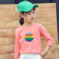 T-shirt Yuanchaoqv / tidal area 110cm 120cm 130cm 140cm 150cm 160cm female spring and autumn Long sleeves Crew neck leisure time There are models in the real shooting nothing cotton Cartoon animation Cotton 100% 2020CT - 0007 Class B other Autumn 2020 Chinese Mainland Jiangxi Province Nanchang City