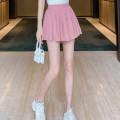skirt Summer 2020 S,M,L,XL,2XL White, black, pink Short skirt Sweet High waist A-line skirt Solid color Type A 18-24 years old 8644CFSDJSJKX More than 95% other other Lotus leaf edge 101g / m ^ 2 (including) - 120g / m ^ 2 (including)