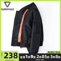 Jacket Mark Fairwhale / mark Warfield Youth fashion Green pure black 1 2 3 4 5 165/S 170/M 175/L 180/XL 185/XXL 190/XXXL routine standard Other leisure autumn Polyamide fiber (nylon) 100% Long sleeves Wear out Baseball collar tide teenagers routine Zipper placket Rib hem No iron treatment Solid color