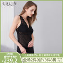 Nightdress EBLIN Black 19 S M L pajamas Winter of 2019 Polyester 100% Same model in shopping mall (sold online and offline)