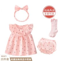 Dress female Fort bey Cotton 95% other 5% summer princess Skirt / vest Cartoon animation cotton A-line skirt Class A 3 months, 12 months, 6 months, 9 months, 18 months, 2 years old, 3 years old