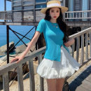 Fashion suit Summer 2021 S. M, average size Blue top, white skirt 18-25 years old three point two seven 81% (inclusive) - 90% (inclusive)