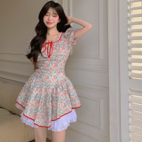 Fashion suit Summer 2021 S. M, average size Decor dress, underpants 18-25 years old Four point seven 31% (inclusive) - 50% (inclusive) polyester fiber