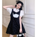Fashion suit Summer 2021 Average size Bubble sleeve shirt, dress 18-25 years old four point one five 96% and above