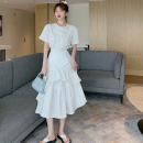 Fashion suit Summer 2021 Average size White top, white skirt 18-25 years old Four point six