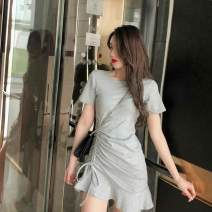 Dress Summer of 2019 Gray, black Average size Other / other