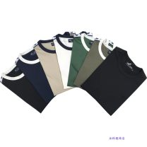 T-shirt Fashion City Black white collar, Navy white collar, light khaki, white navy blue collar, football field green, army green, pure black, grey navy blue collar routine S bust 95, m bust 105, l bust 112, XL bust 120 Others Short sleeve Crew neck standard Other leisure summer Cotton 100% youth
