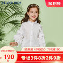 shirt Ivory / 39 E·LAND KIDS female 110cm 120cm 130cm 140cm 150cm 160cm 165cm spring and autumn Long sleeves princess Solid color stand collar Other 100%