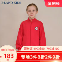 Plain coat E·LAND KIDS female 110cm 120cm 130cm 140cm 150cm 160cm 165cm Red / 20 [jacket] Navy / 59 [jacket] Navy / 59 [trousers] spring and autumn leisure time Zipper shirt There are models in the real shooting routine nothing Cotton blended fabric High collar EKSMA4921A-376984 Other 100%