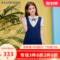 Dress Navy navy / 59 female E·LAND KIDS 110cm 120cm 130cm 140cm 150cm 160cm 165cm Other 100% summer college Short sleeve other A-line skirt EKOWB6524K 6 years old, 7 years old, 8 years old, 9 years old, 10 years old, 11 years old, 12 years old, 13 years old and 14 years old