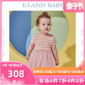 Dress Pink / 25 female E·LAND KIDS 80cm 90cm 100cm 110cm 120cm Other 100% summer princess Short sleeve stripe other A-line skirt EKOKB2363B 12 months 18 months 2 years 3 years 4 years