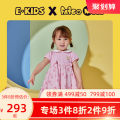 Dress Pink L / blue light blue / 51 female E·LAND KIDS 80cm 90cm 100cm 110cm 120cm Other 100% summer fresh Short sleeve Cartoon animation other Splicing style EKOMB6461M-485068 12 months 18 months 2 years 3 years 4 years