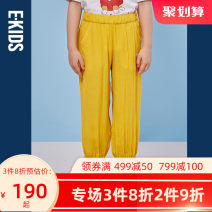 trousers E·LAND KIDS female 110cm 120cm 130cm 140cm 150cm 160cm 165cm Navy navy / 59 ocher / 34 summer Ninth pants leisure time There are models in the real shooting Casual pants Leather belt middle-waisted blending Don't open the crotch EKTAB6421D
