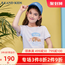 T-shirt White / 10 E·LAND KIDS 110cm 120cm 130cm 140cm 150cm 160cm 165cm female summer Short sleeve Crew neck leisure time There are models in the real shooting nothing Cartoon animation Other 100% EKRAB6521A