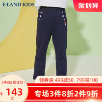trousers E·LAND KIDS female 110cm 120cm 130cm 140cm 150cm 160cm 165cm Tibetan green spring and autumn trousers motion There are models in the real shooting middle-waisted cotton Other 100%