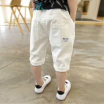 trousers Other / other male They are 110-115cm, 5-6-7 years old, 120-125cm, 7-8 years old, 130-135cm, 8-9 years old, 140-145cm, 10-11 years old, 150-155cm, 12-13 years old Back [white] shorts, [light fre shorts] Capris elastic, rook [elastic] new Capris summer Pant leisure time Jeans other zxdvv
