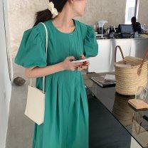 Dress Summer 2020 Light blue, green, yellow, black Average size