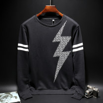 Sweater Youth fashion Bora Jaden White, black 46, 48, 50, 52, 44 yards The starry sky Socket routine Crew neck autumn Slim fit motion youth Youthful vigor routine other Cotton 100% cotton printing washing More than 95% Save pocket motion Socket