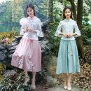 Fashion suit Summer of 2019 M,L,XL,XXL,3XL Pink, light grey green 71% (inclusive) - 80% (inclusive) cotton