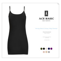 Dress Summer of 2019 Black, gray, purple, milky white, dark rice, dark blue, naked powder, army green S,M,L,XL Middle-skirt singleton  Sleeveless commute Crew neck Solid color camisole 25-29 years old Type H Simplicity D3320 91% (inclusive) - 95% (inclusive) knitting modal