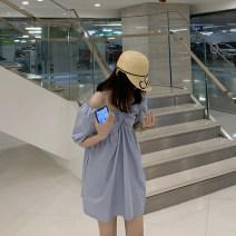Dress Spring 2020 S,M,L Short skirt singleton  Short sleeve High waist Type A