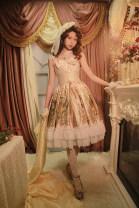 Lolita / soft girl / dress soufflesong Black, generative color L,S