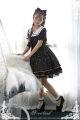 Lolita / soft girl / dress soufflesong White, cyan, black L,S Spring, spring and Autumn Lolita, soft girl