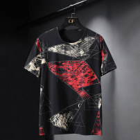 T-shirt Youth fashion Triangle red, triangle black thin XL (120-140 Jin), 2XL (140-160 Jin), 3XL (160-180 Jin), 4XL (180-200 Jin), 5XL (200-220 Jin), 6xl (220-240 Jin), 7XL (240-260 Jin), 8xl (260-280 Jin), 9xl (280-300 Jin), 10xl (300-330 Jin) Others Short sleeve Crew neck easy daily summer routine