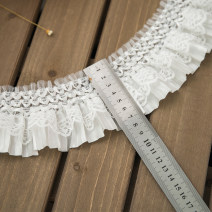 lace White, black, white 7cm wide and 1m long, black 7cm wide and 1m long, white 7cm wide and 3M long, black 7cm wide and 3M long, white 7cm wide and 5m long, black 7cm wide and 5m long Fadson Organ lace