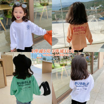 T-shirt White, orange, lake green Yangmeijia 80cm (label 80), 90cm (label 90), 100cm (label 100), 110cm (label 110), 120cm (label 120), 130cm (label 130), 140cm (label 140), 150cm (label 150), 160cm (label 160) female spring and autumn Korean version There are models in the real shooting nothing