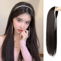 Whole wig High temperature silk Long straight hair Sweet and lovely Fashion girl Others