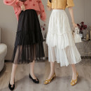 skirt Spring 2021 Average size Black light apricot Mid length dress commute High waist Cake skirt Solid color Type A OYH308L More than 95% Tiphne / Europe, Italy and Korea other Gauze Korean version Other 100% Pure e-commerce (online only)