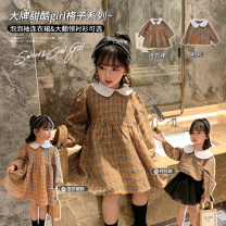 Dress Dress, shirt female Other / other 80, 90, 100, 110, 120, 130, 140, 150 Other 100% spring and autumn Korean version Long sleeves lattice other other Class B 18 months, 2 years old, 3 years old, 4 years old, 5 years old, 6 years old, 7 years old