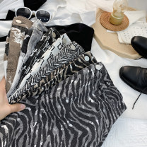 skirt Spring 2021 S,M,L,XL White letters, carbon black letters, zebra gray, zebra khaki, herringbone fine grain black, ink gray, ink khaki Short skirt commute High waist A-line skirt Type A 18-24 years old 71% (inclusive) - 80% (inclusive) other other Korean version