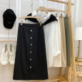 skirt Spring 2021 S,M,L Mid length dress commute High waist A-line skirt Solid color Type A 18-24 years old 71% (inclusive) - 80% (inclusive) other other Korean version