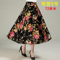 skirt Summer 2021 Mid length dress Versatile High waist Pleated skirt Type A 35-39 years old 81% (inclusive) - 90% (inclusive) brocade Cellulose acetate 141g / m ^ 2 (including) - 160g / m ^ 2 (including)