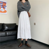 skirt Autumn 2020 Average size Black without velvet white without velvet black with velvet white with velvet longuette Versatile High waist A-line skirt Solid color Type A 18-24 years old 5997_ by3JR 71% (inclusive) - 80% (inclusive) other Gooseby cotton fold Cotton 78.3% others 21.7%