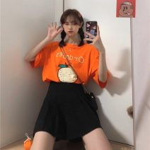 T-shirt Grey Green Orange Gold Average size Spring 2021 Short sleeve Crew neck easy Regular routine commute cotton 86% (inclusive) -95% (inclusive) 18-24 years old Korean version originality Cartoon animation Gooseby Cotton 89.7% others 10.3% Pure e-commerce (online only)
