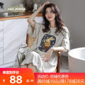 Nightdress New beauty F21VQF254 M L XL XXL Sweet Short sleeve Leisure home Middle-skirt summer Cartoon animation youth Crew neck cotton printing More than 95% pure cotton F21VQF254 Summer 2021 Cotton 100% Pure e-commerce (online only)