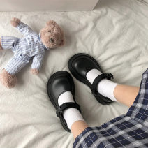 Low top shoes 35 36 37 38 39 Fanaishi Black light black matte Round head PU Muffin bottom Low heel (1-3cm) Shallow mouth PU Summer 2021 Flat buckle Mori Adhesive shoes Youth (18-40 years old) Solid color rubber Single shoes cloth leisure time Pure e-commerce (online only)