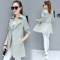 short coat Spring of 2019 S. M, l, XL, 2XL, limited quantity 55 yuan, promotion, about to restore the original price 89 yuan Light green, pink, orange Long sleeves Medium length Thin money singleton  easy commute routine tailored collar double-breasted Solid color 25-29 years old Pocket, button nylon